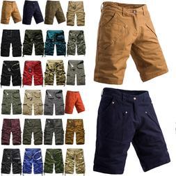 Men's Loose Fit Cargo Shorts Summer Short Pants Military Com