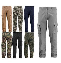 BFUSA Men's Military Army Cargo Pants Cotton Multi Pocket Ta