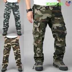 Men's Military Army Combat Trousers Tactical Work Camouflage