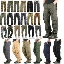 Men's Military Army Combat Trousers Tactical Cotton Work Cam