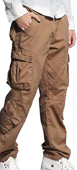 MATCH MEN'S MILITARY CARGO PANTS, MULTI POCKET, PLUS SIZE, K