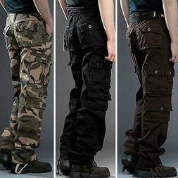 Men's Military Cotton Cargo Pants Combat Camouflage Camo Arm