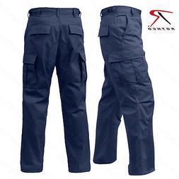 Men's Navy Blue Fatigue Pant - Rothco 6 Pocket Tactical Mili