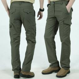 Men'S Outdoor Tactical Trousers Cargo Pants 6-Pockets Solid