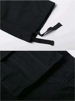 OCHENTA Men's Outdoor Woodland Military Cargo Pant Black 34,