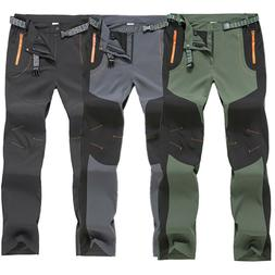 Men's Outdoor Zipper Cargo Combat Pants Stretch Jogger Hikin