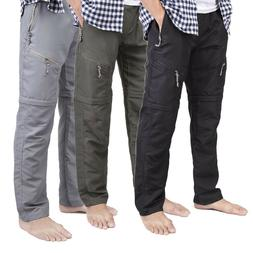 Men's Quick Dry Detachable Long Pants Shorts Hiking Cargo Tr