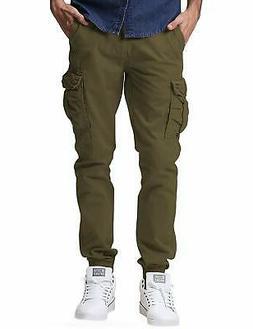 Match Men's Regular Fit Chino Jogger Cargo Pant (36W x 33L,