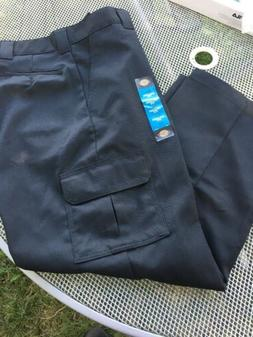 Dickies Men's Relaxed Fit Straight Leg Cargo Pants Black Siz