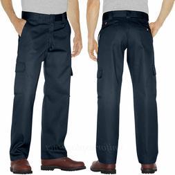 Dickies Men's Relaxed Straight Fit Cargo Work Pant, Dark Nav