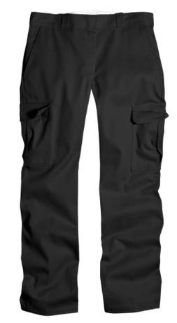 Dickies Men's Relaxed Straight Fit Cargo Work Pant, Black, 4
