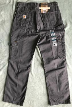 Carhartt Men's Ripstop Double Front Cargo Work Pants GREY B3