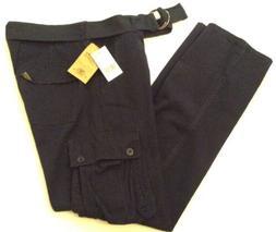 Camp and Campus Men's Size 36 X 32 Pants Navy Cargo Slim Leg