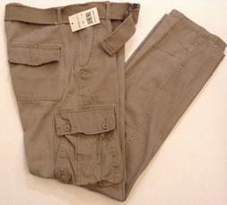 Camp and Campus Men's Size 36 X 32 Pants Khaki Cargo Slim Le