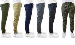 Men's Slim Fit Stretch Cotton Cargo Jogger Pants