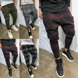 Men's Slim Fit Urban Straight Leg Trousers Casual Pencil Jog