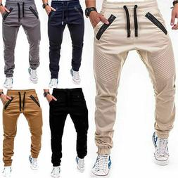 Men's Slim Fit Urban Straight Leg Trousers Casual Pencil Gym
