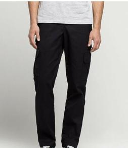 Dickies Men's Slim Straight Stretch Twill Cargo Pant, Black,