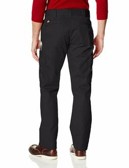 Dickies Men's Slim Straight Stretch Twill Cargo Pant, Black,