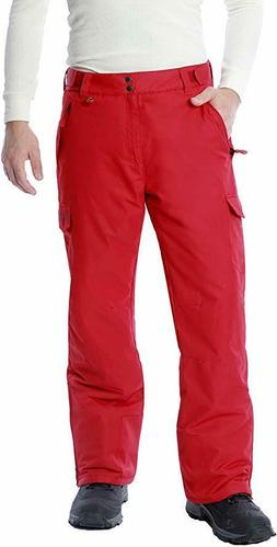Arctix Men's Snow Sports Cargo Pants, Red, Large