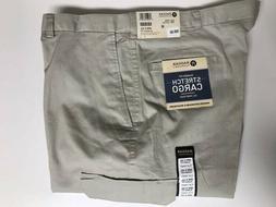 Haggar Men's Stretch Cargo Pants Beige Size 40 x 32 NEW Clas