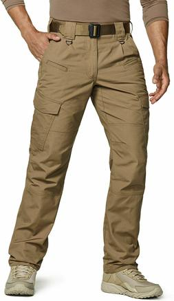 CQR Men's Tactical Pants, Water Repellent Ripstop Cargo Pant