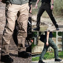Men's Tactical Waterproof Work Cargo Long Pants with Pockets