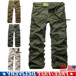 Men's Tactical Waterproof Work Cargo Long Pants with Pockets