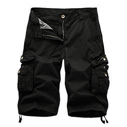 Oeak Men's Twill Cargo Shorts Multi Pockets Work Outdoor Wea