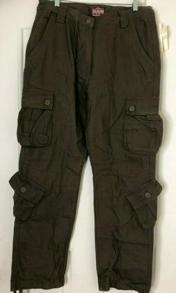 Match Men's Wild Cargo Pants, Dark Khaki, 34