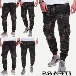 Men Slim Fit Urban Straight Leg Trousers Casual Pencil Jogge