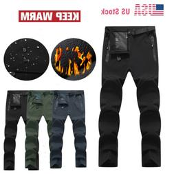 Mens Outdoor Snow Pant Fleece Lined Windproof Hiking Pants W