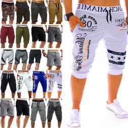 Men Solid Cargo Work Combat Shorts Pants Summer Beach Sport