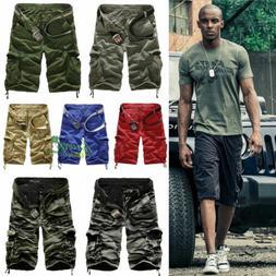 men sport camo cargo shorts military combat