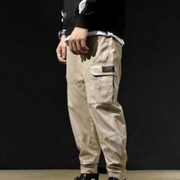 Men Summer Overalls Trousers Cotton Loose All-match Youth Ca