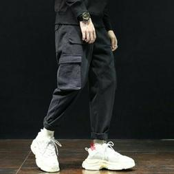 Men Trousers Overalls Cotton Solid Spring All-match Casual C