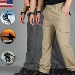 Men Waterproof Quick Dry Hiking Pants Outdoor Tactical Climb