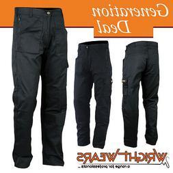 Men Work Cargo Trouser Black Multi Pockets Polycotton 245gsm