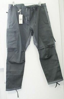 Dockers Mens Alpha Urban Twill Cargo Pants Gray Colorblocked