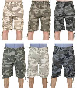 Mens Army Cargo Camo Combat Shorts 3 Quarter Bermuda Work Ha