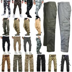 men camo tactical combat cargo long pants