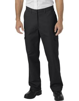 Dickies Mens Black Industrial Relaxed Fit Straight Leg Cargo