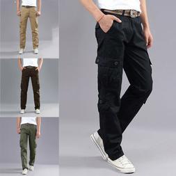 Mens Boys Outdoor Work Military Army Cargo Pants Multi-pocke