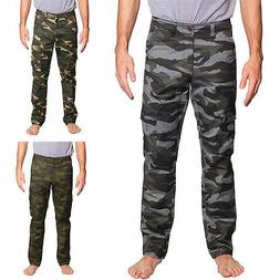 Victorious Mens Camouflage Cargo Slim Fit Pants AR170 - FREE