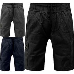 Mens Wrangler Cargo Combat Relaxed Elasticated Fit Shorts Wo