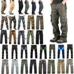 Mens Cargo Combat Workout Pants Tactical Military Outdoor Wo