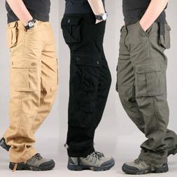 Military Men's Cotton Cargo Pants Combat Camouflage Camo Arm