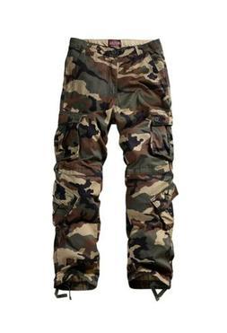 Match Mens Cargo Pants Set Silver Gray / Camo