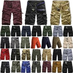 Mens Cargo Shorts Military Army Combat Camo Pants Tactical W