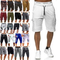 Mens Cargo Shorts Pants Casual Summer Beach Sport Gym Trouse